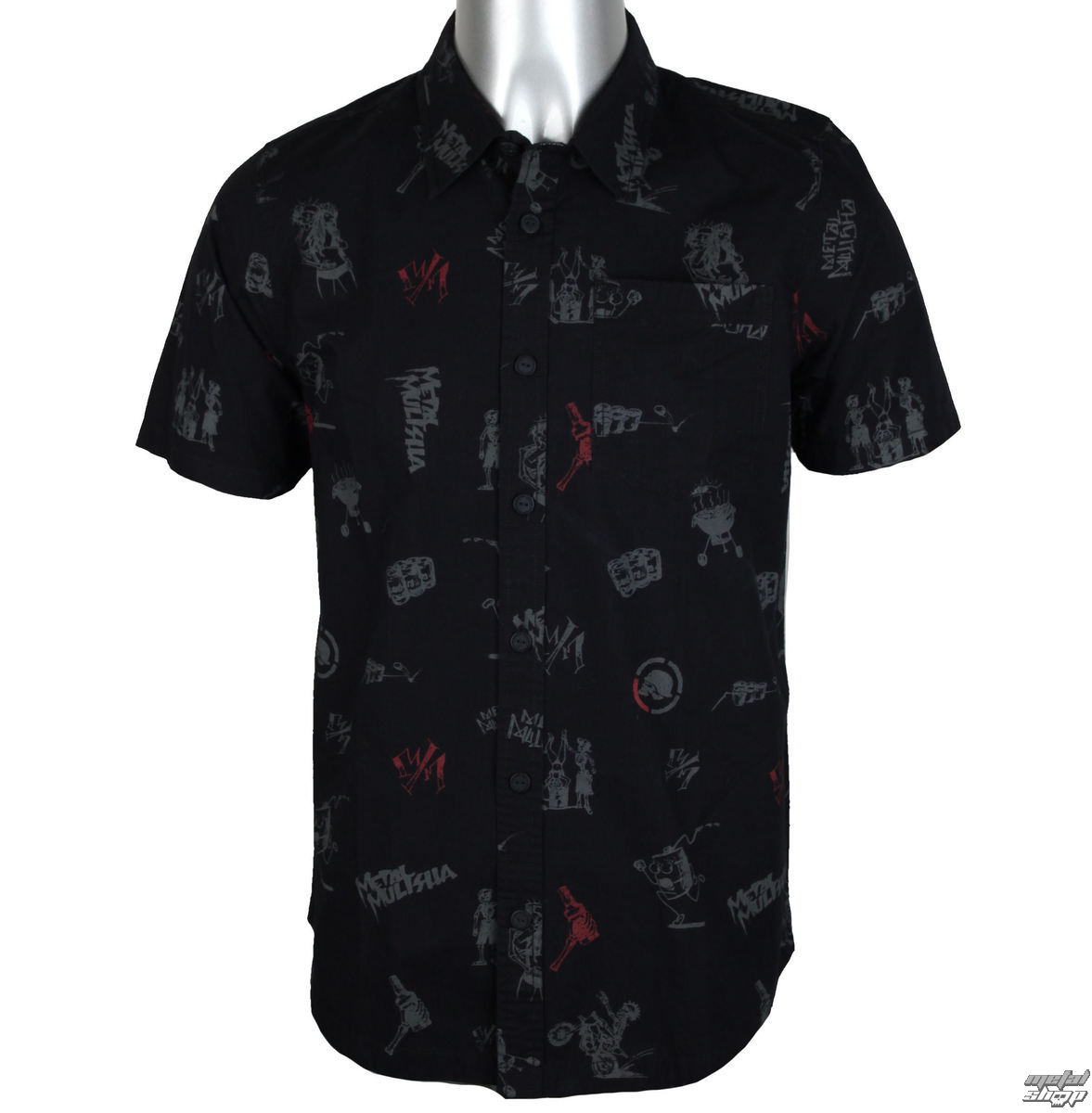 košile pánská METAL MULISHA - HIT N RUN - BLK