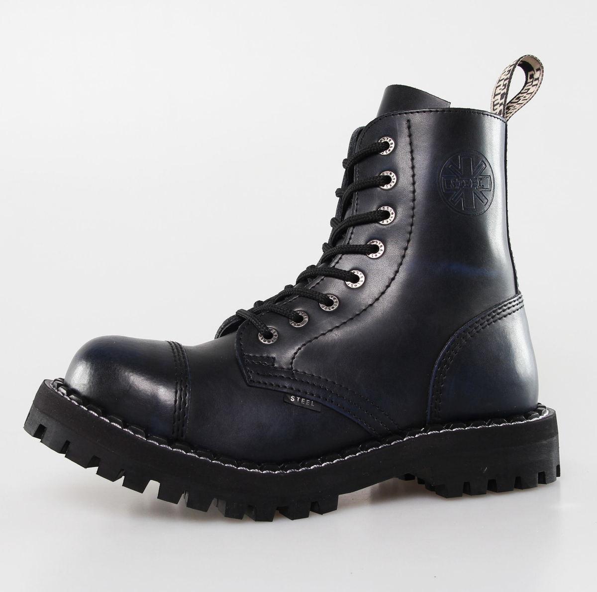 boty STEEL - 8 dírkové (113/114) - Black/Blue