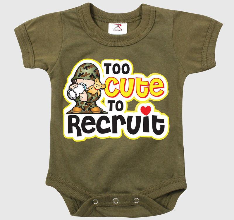 body dětské ROTHCO - TOO CUTE TO RECRUIT - OD - 67150