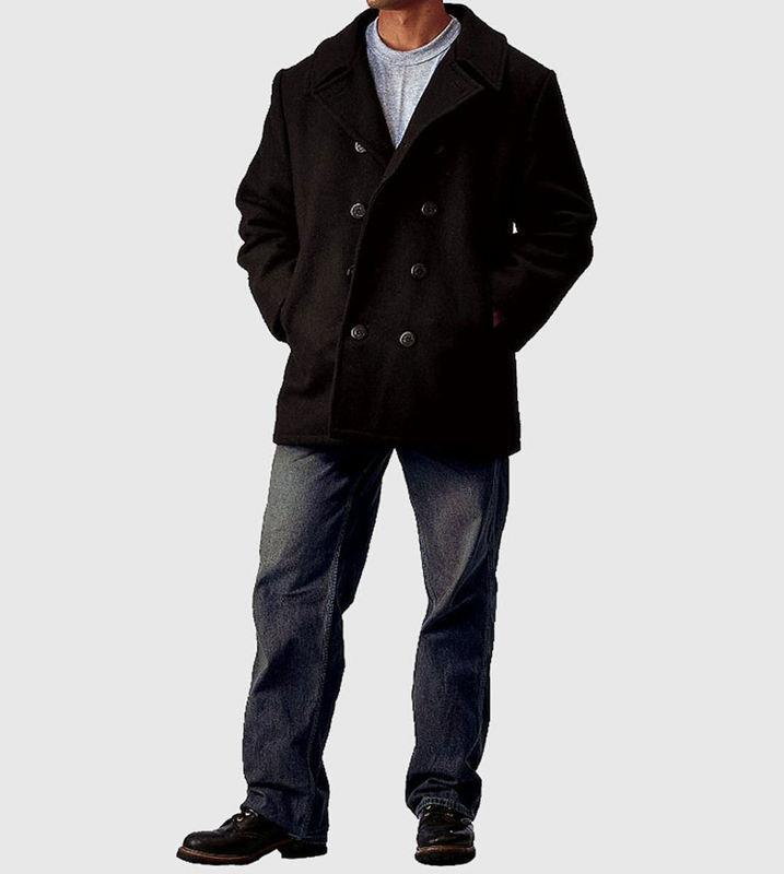kabát pánský ROTHCO - PEA COAT - BLACK - 7070