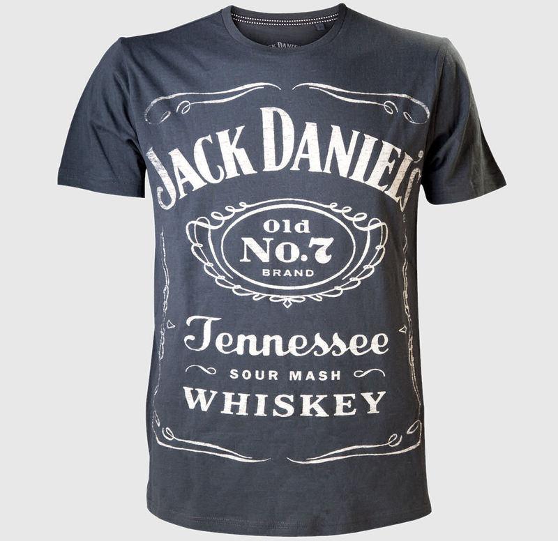 tričko pánské Jack Daniels - Reversible Printed - TS150901JDS