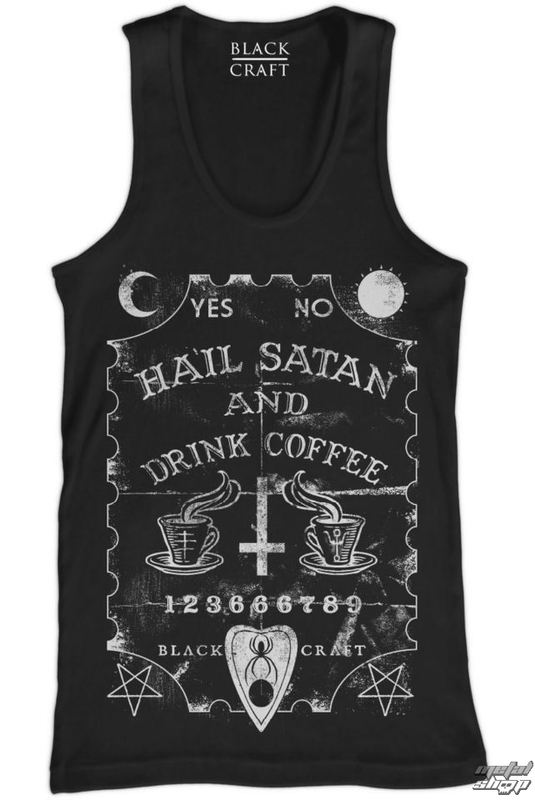 tílko pánské BLACK CRAFT - Hail Satan & Drink Coffee - Black - TT001HE