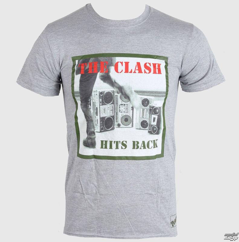 tričko pánské THE CLASH - HITS BACK - GREY - LIVE NATION - RTCLA0152