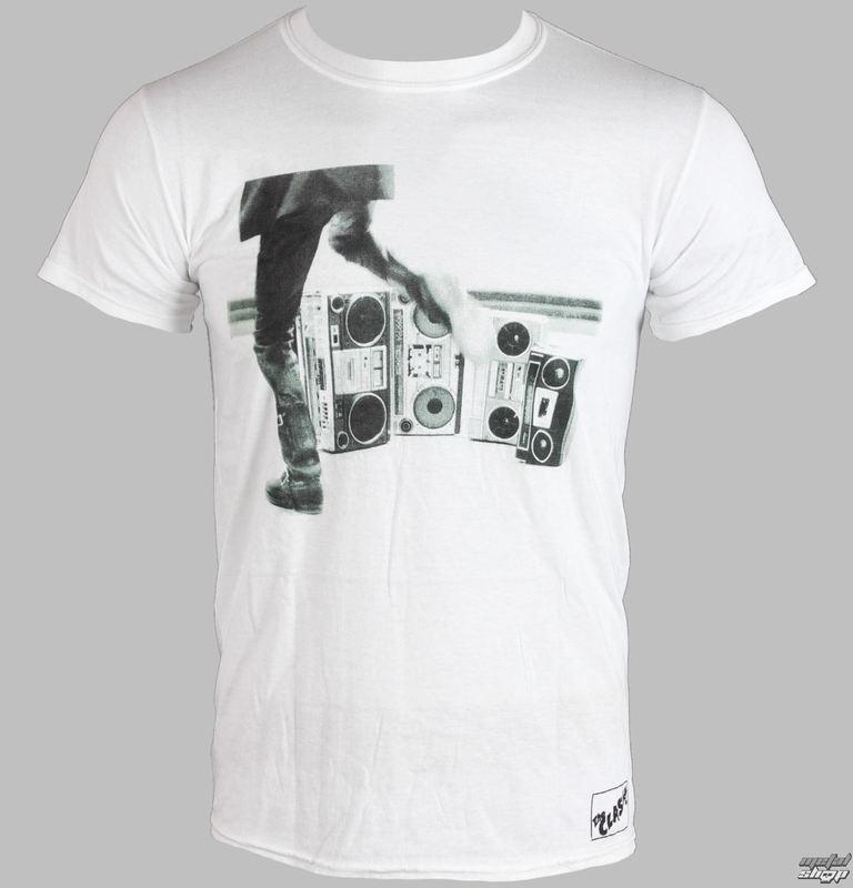 tričko pánské THE CLASH - HITS BACK JUMBO - WHITE - LIVE NATION - RTCLA0153