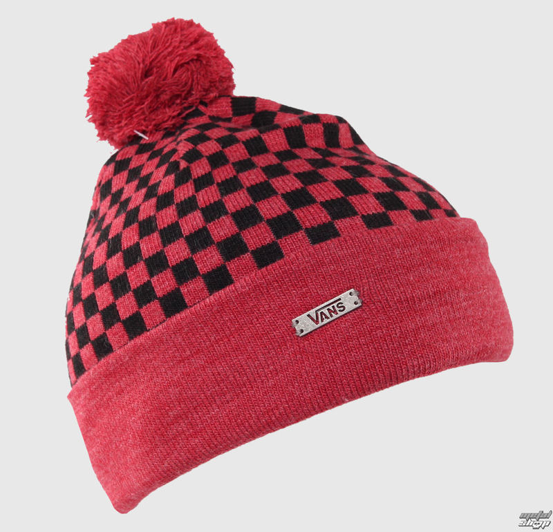 kulich VANS - Checkerboard Pom P - Heather Red