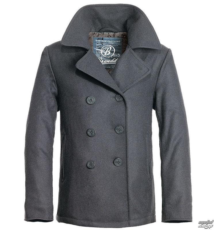 kabát pánský zimní Brandit - Pea Coat – Anthrazit - 3109/5 (9156/5)