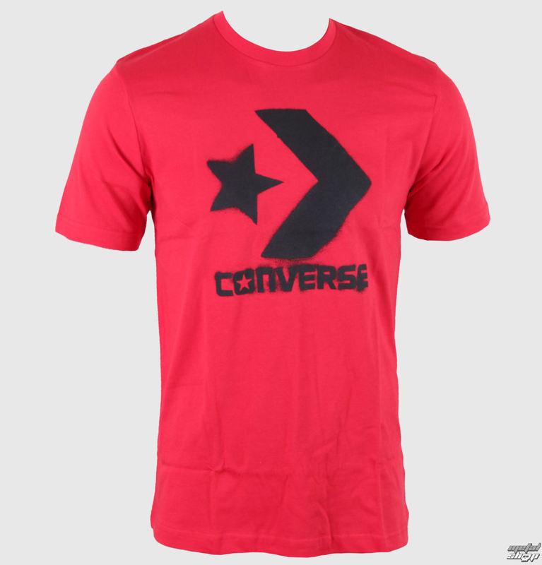 tričko pánské CONVERSE - CONS SPRAY STAR - VARSITY RED - 10311C-642