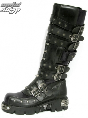 boty NEW ROCK - Rivet High Boots (796-S1) Black - N-8-31-700-00