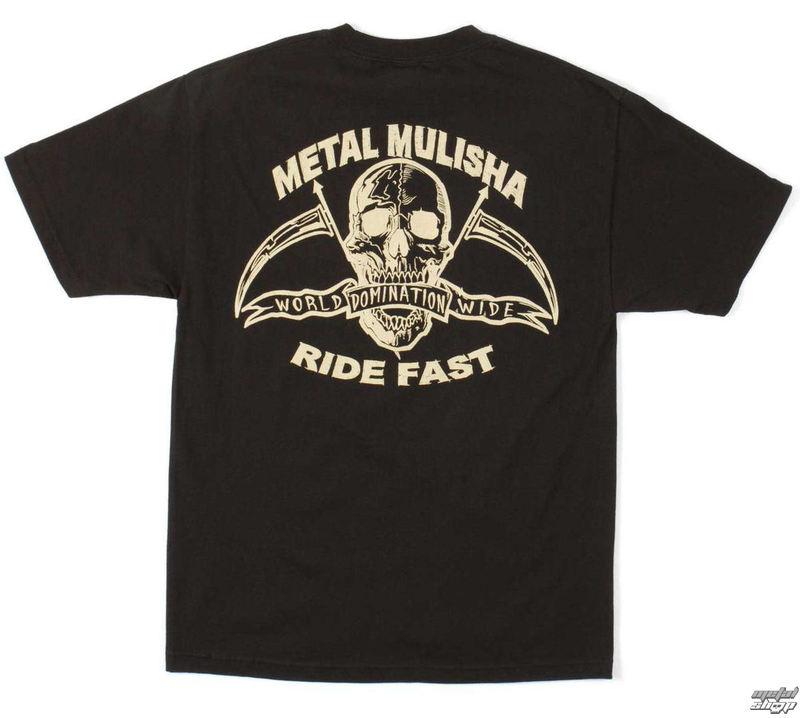 tričko pánské METAL MULISHA - RIDE FAST - BLK