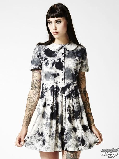 šaty dámské DISTURBIA - Storm - Black/White/Pink - DIS431