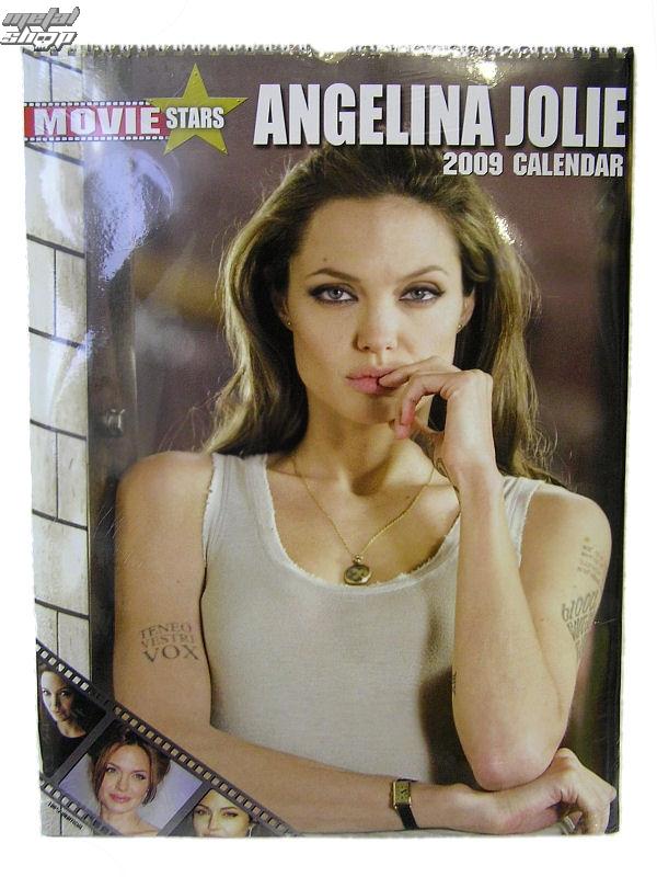 kalendář na rok 2009 - Angelina Jolie 1