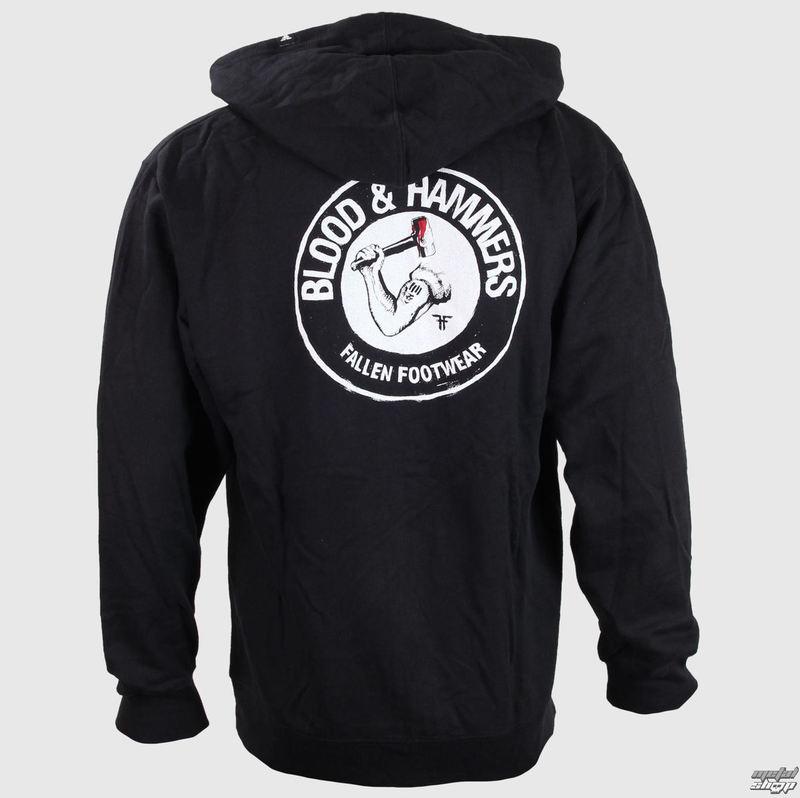 mikina pánská FALLEN - Blood & Hammers - Black/White - 41110205-BWT