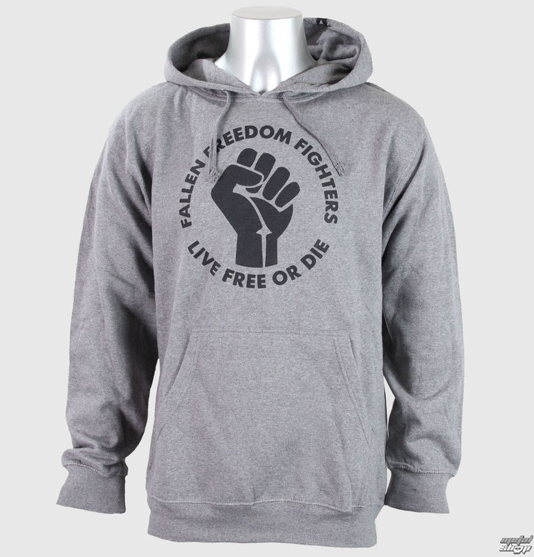 mikina pánská FALLEN - Freedom Fighter Heather-  Grey/Black