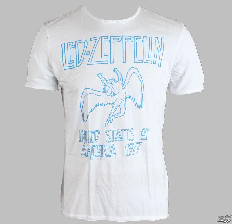 tričko pánské Led Zeppelin - 77 - AMPLIFIED - White - AV255LZ7