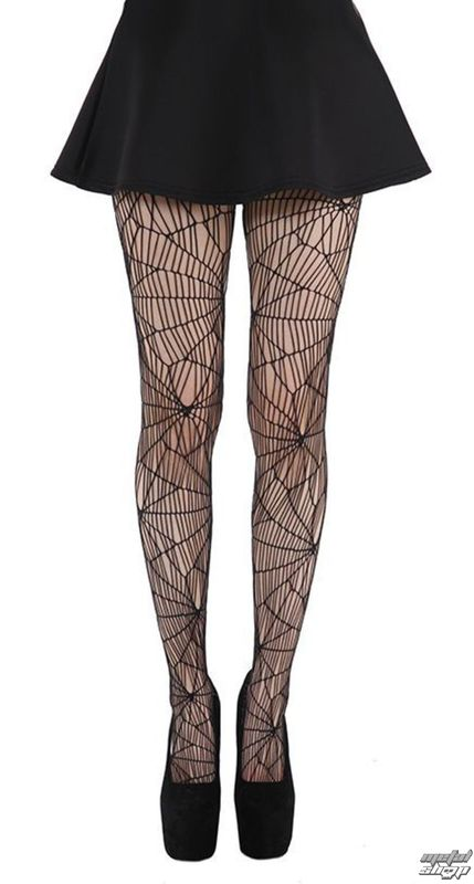 punčocháče PAMELA MANN - Cobweb Pattern Tights - Black