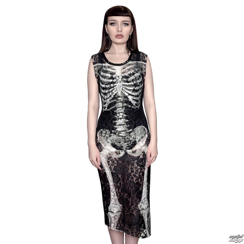 šaty dámské KILLSTAR - Skeletor Lace Maxi - Black