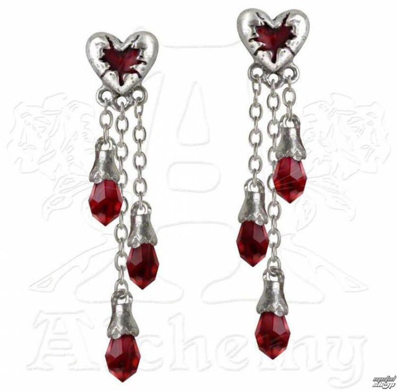 náušnice ALCHEMY GOTHIC - Bleeding Heart - E272
