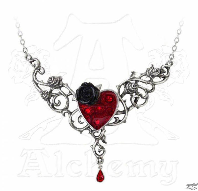 obojek ALCHEMY GOTHIC - The Blood Rose Heart - P721