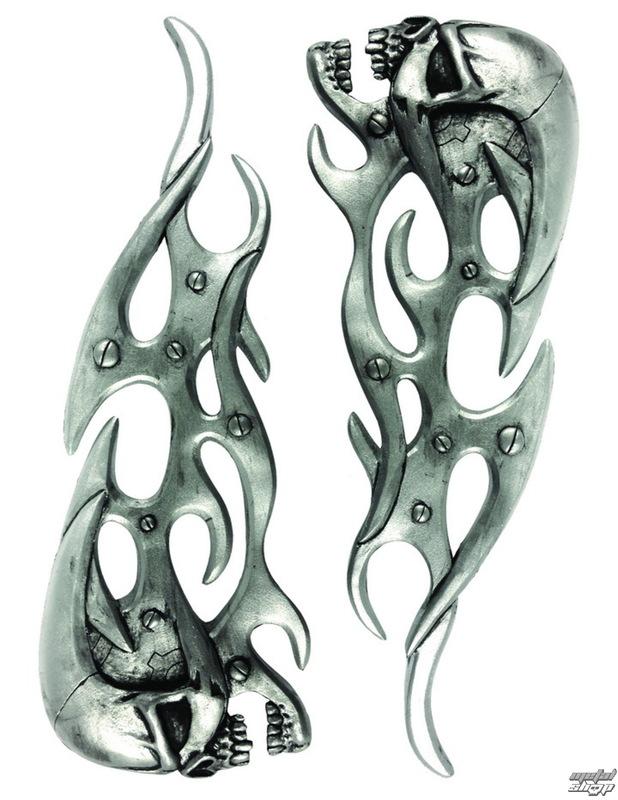 dekorace (na auto) LETHAL THREAT - Mechanical Skull Flames LT & RT Emlemes - LT88670