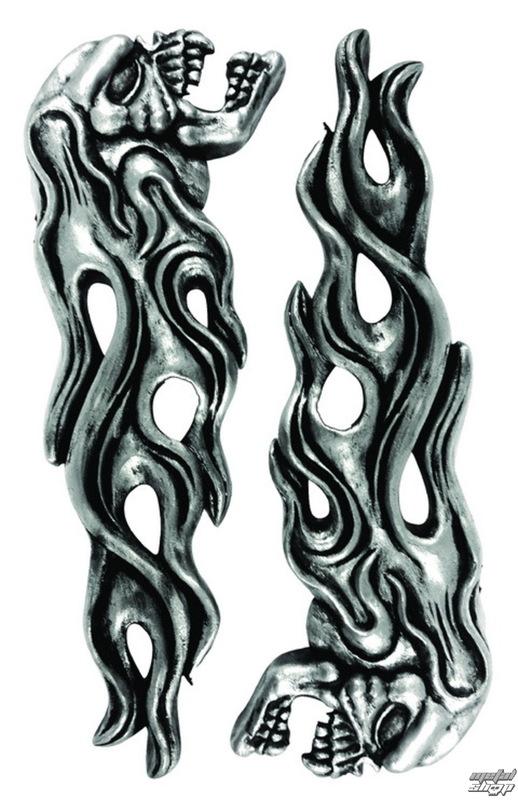 dekorace (na auto) LETHAL THREAT - LT & RT Flaming Skull Emlemes - LT88676