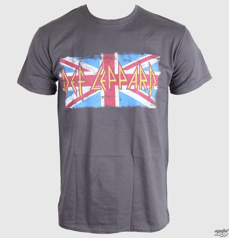 tričko pánské Def Leppard - Union Jack - LIVE NATION - PE11764TSCP