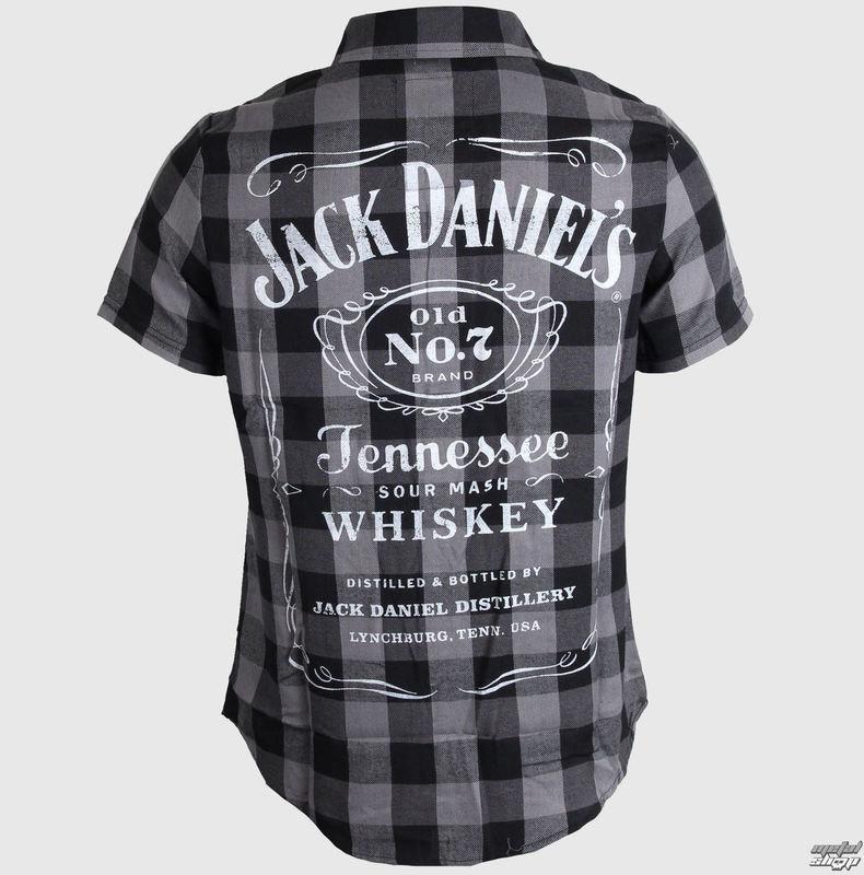 košile pánská Jack Daniels - Checks - Black/Grey - TS633014JDS