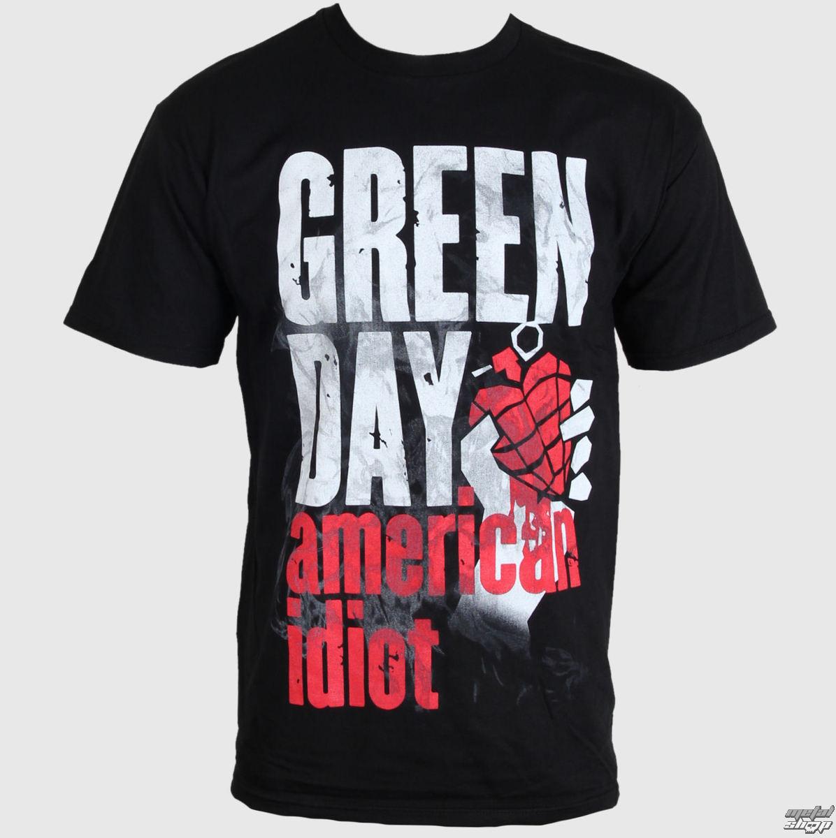 tričko pánské Green Day - Smoke Screen - BRAVADO - 12141385