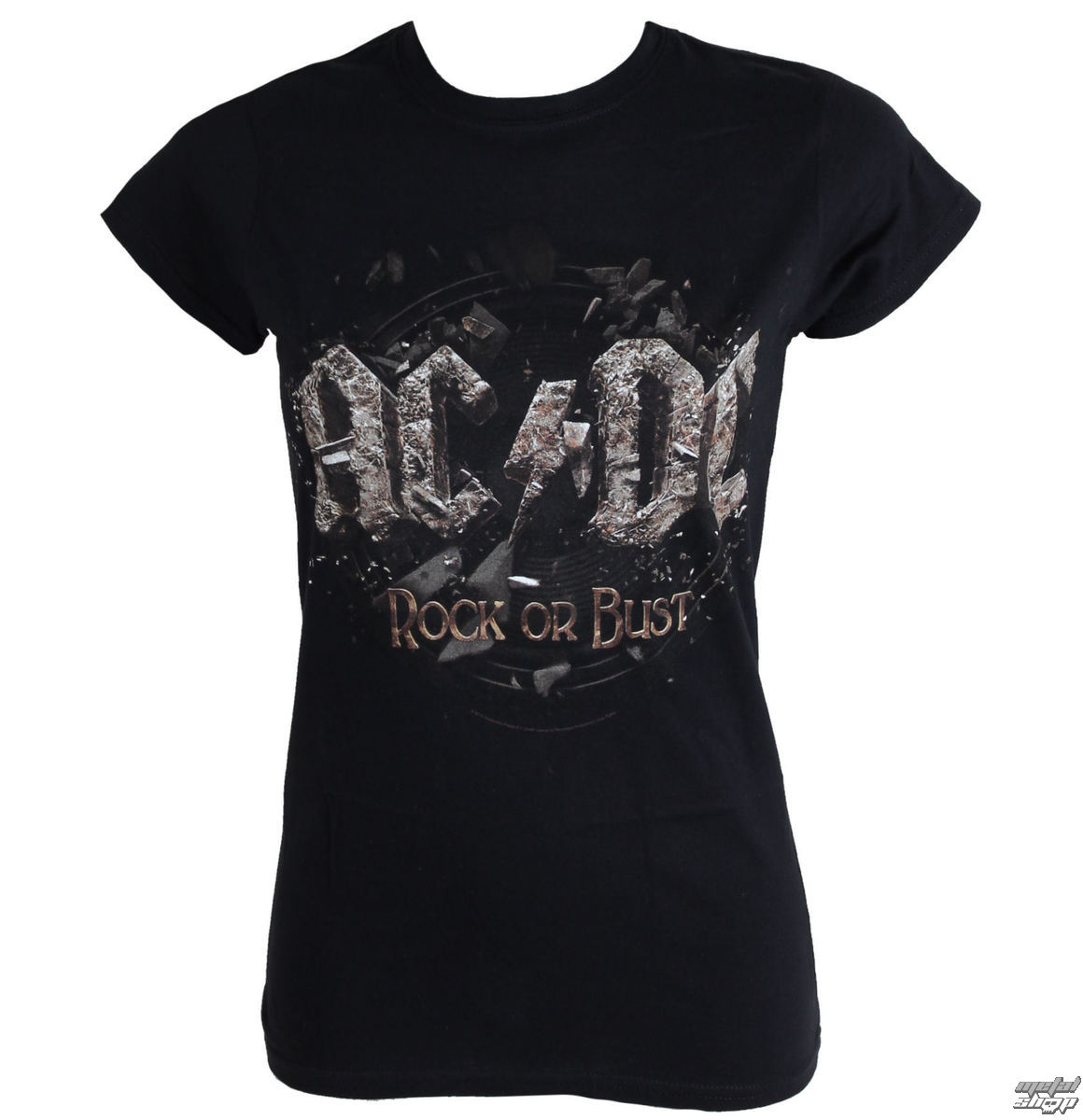 tričko dámské AC/DC - Rock Or Bust - Black - LIVE NATION - PE12105SKBPL