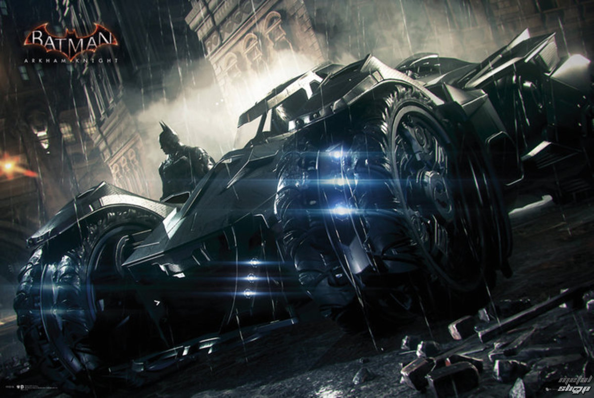 plakát Batman - Arkham Knight Batmobile - GB Posters