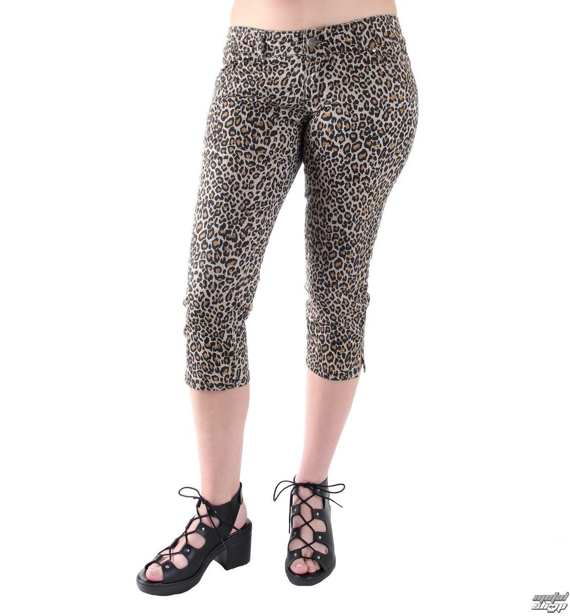 kalhoty 3/4 dámské 3RDAND56th - Leopard - SL012