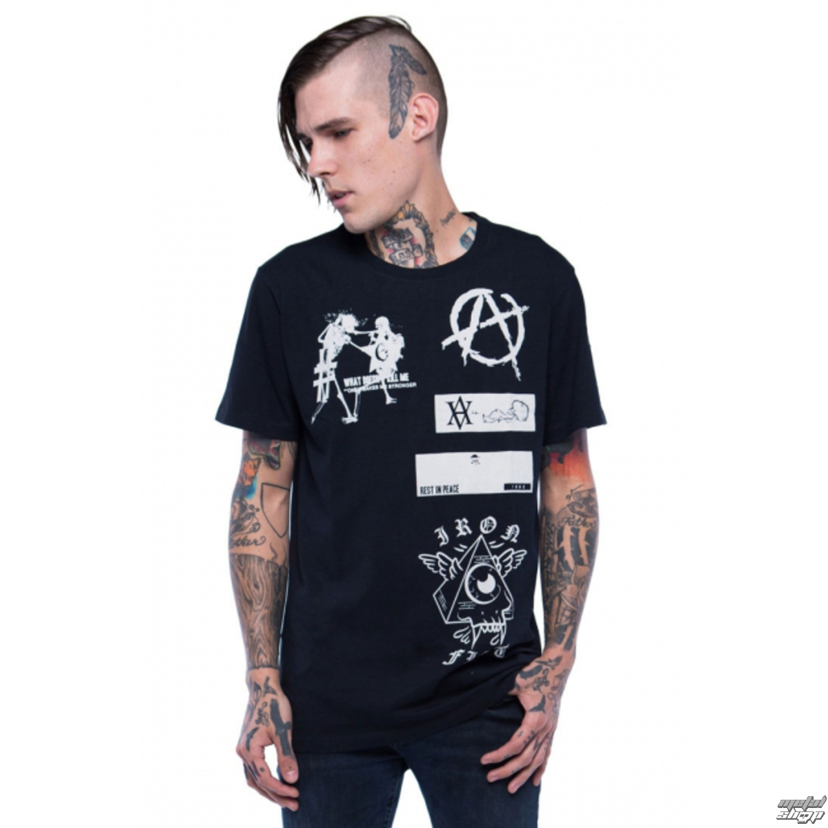 tričko pánské IRON FIST - Libertarian - Black - IFMSST007