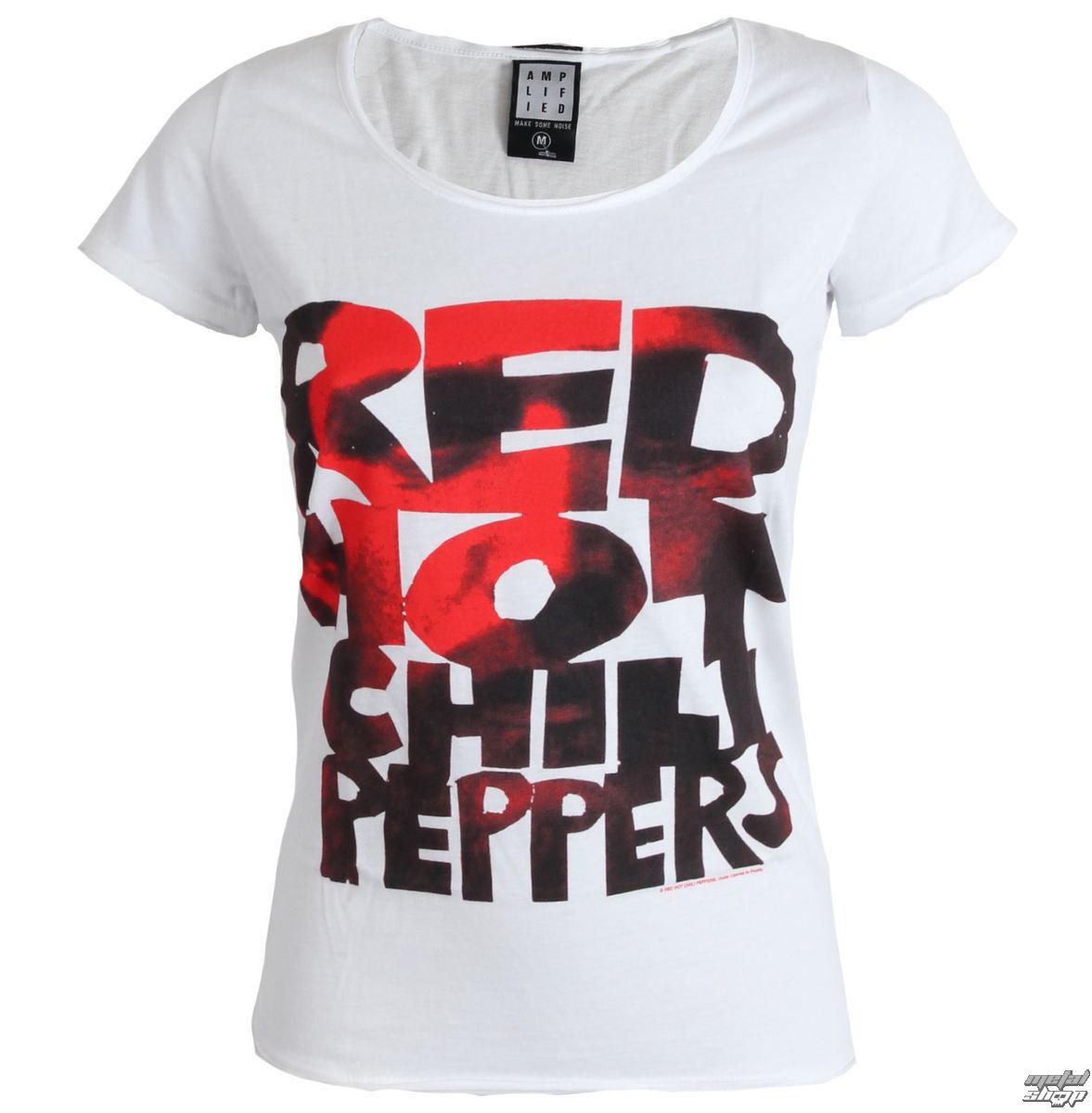 tričko dámské Red Hot Chilli Peppers - Type Face Fill - White - AMPLIFIED - ZAV601CPF