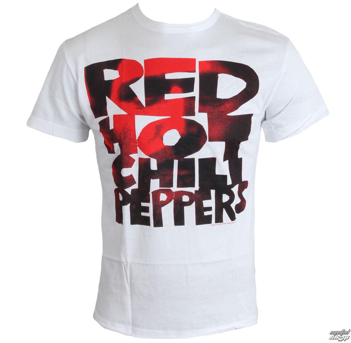 tričko pánské Red Hot Chilli Peppers - Type Face Fill - White - AMPLIFIED - ZAV210CPF