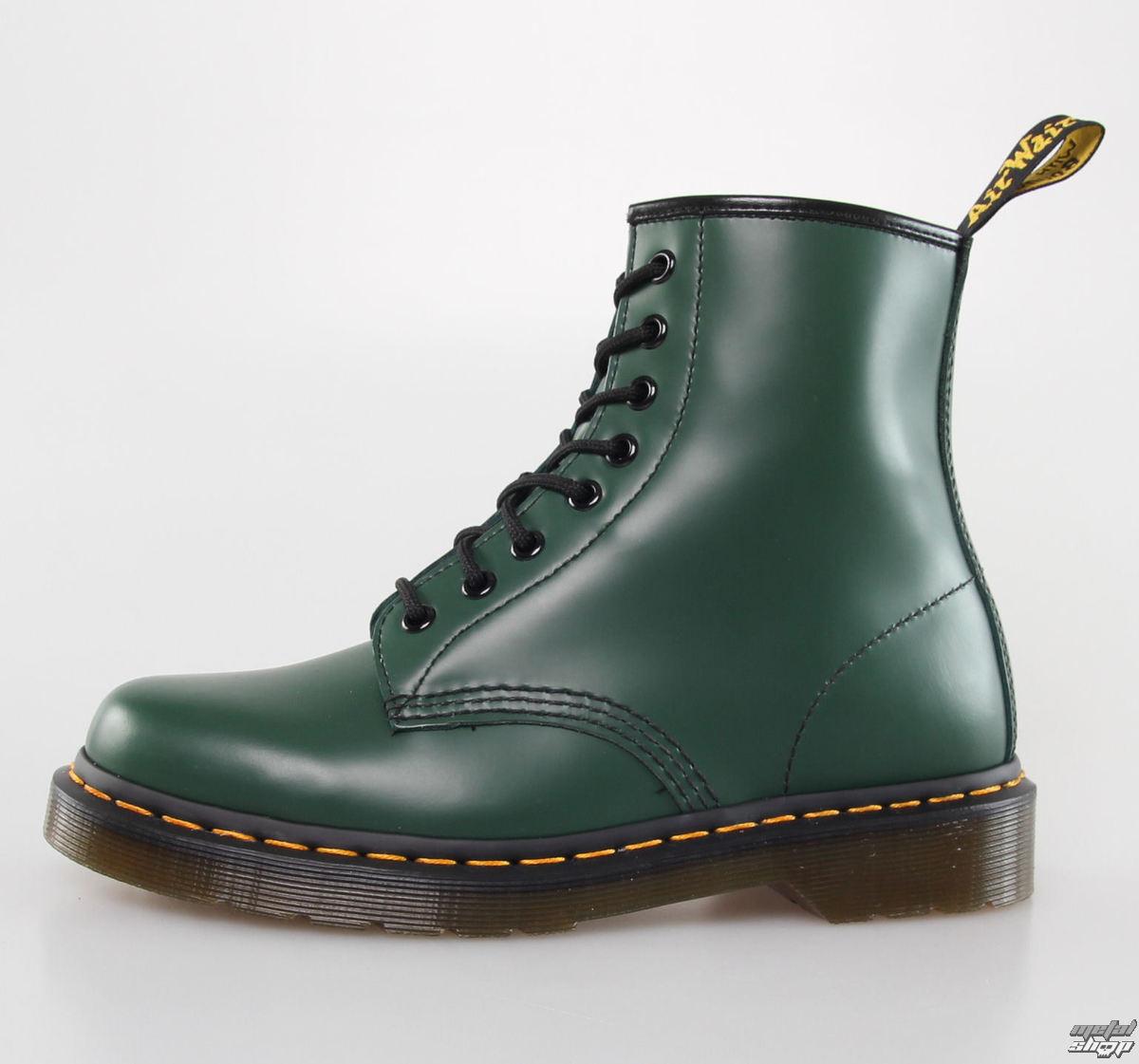 boty DR. MARTENS - 8 dírkové - 1460 - GREEN SMOOTH - DM10072310 ... 3ecf3bfd0b