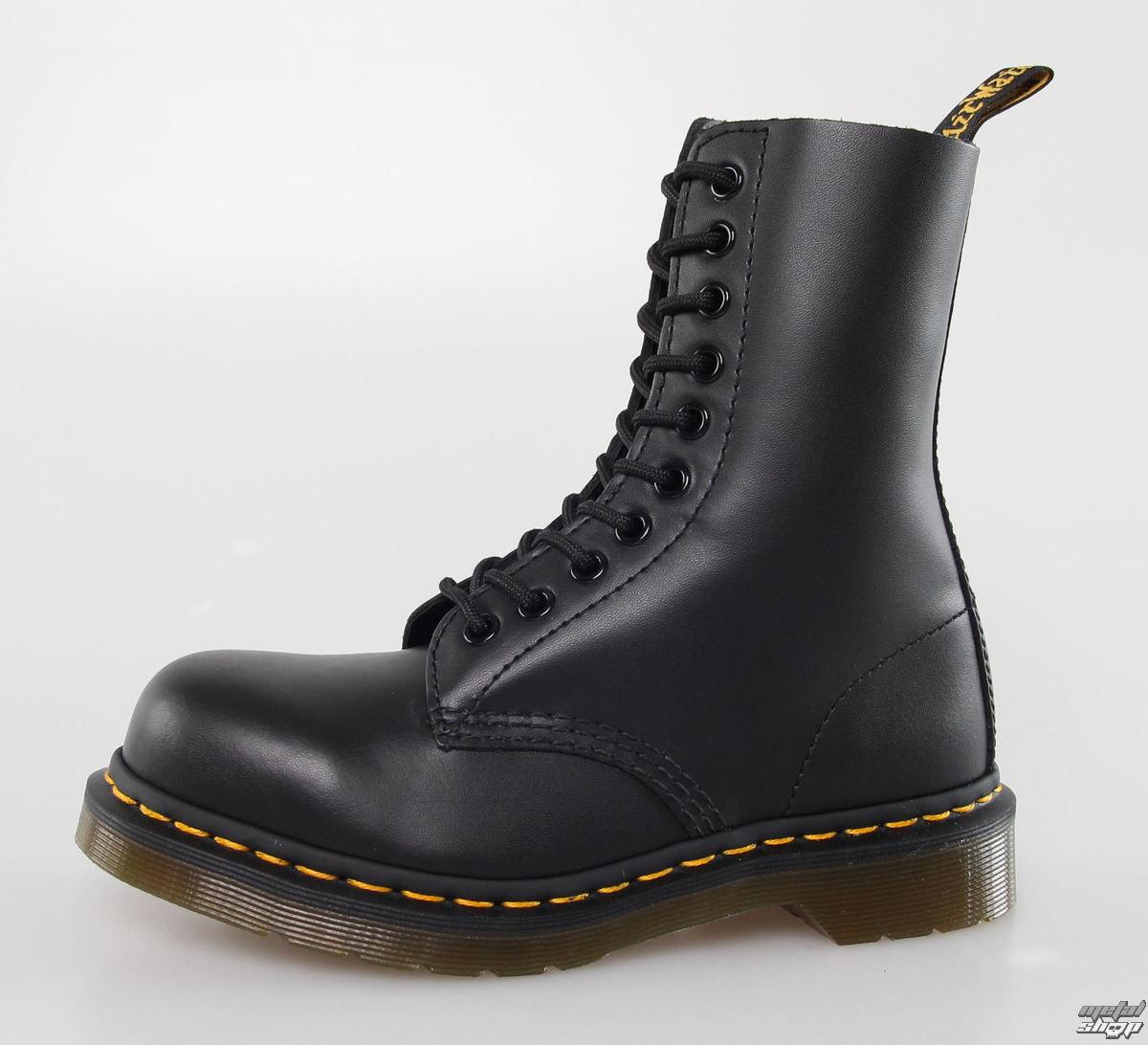 boty DR. MARTENS - 10 dírkové - 1919 - BLACK FINE HAIRCELL