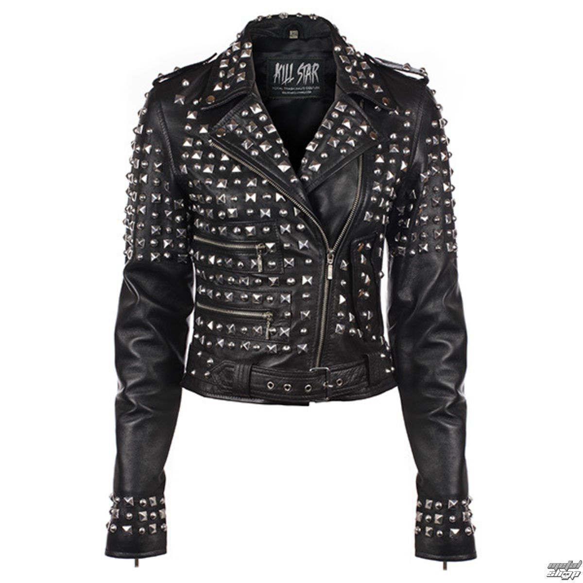 bunda dámská (křivák) KILLSTAR - Studded - Black