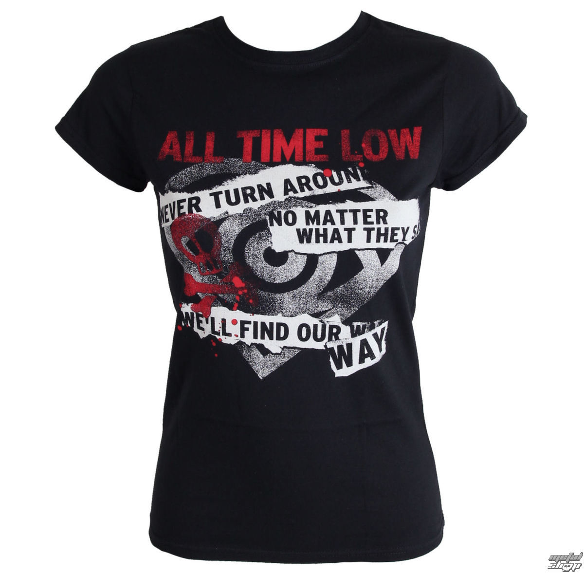 tričko dámské All Time Low - Find Our Way - LIVE NATION - PE12132SKBP