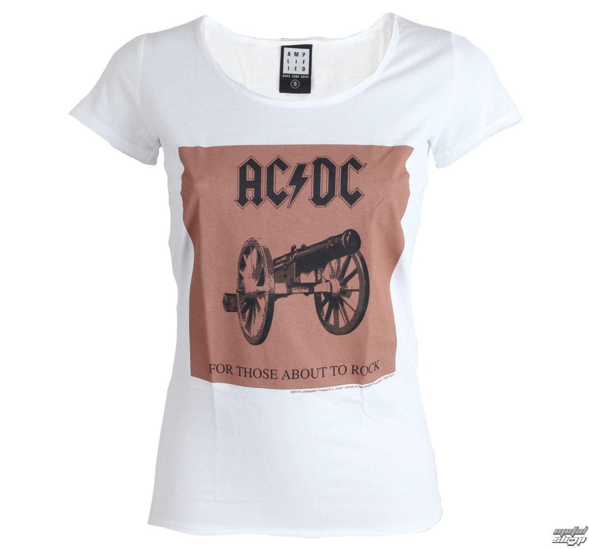 tričko dámské AC/DC - About To Rock - White - AMPLIFIED - ZAV601ARC
