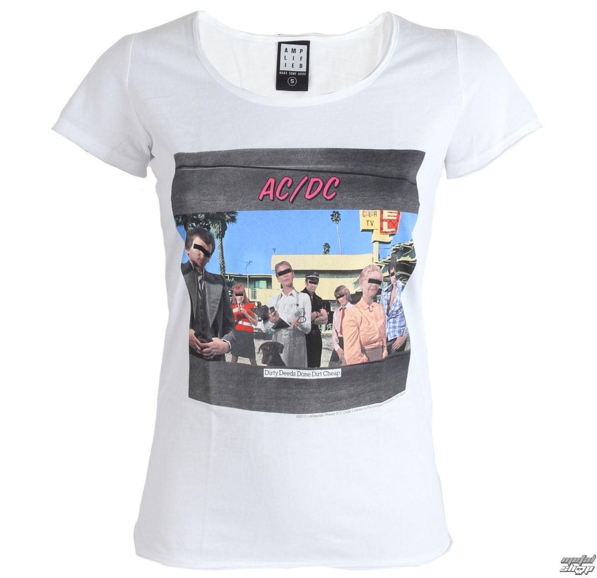 tričko dámské AC/DC - Dirty Deeds - White - AMPLIFIED - ZAV601DDC