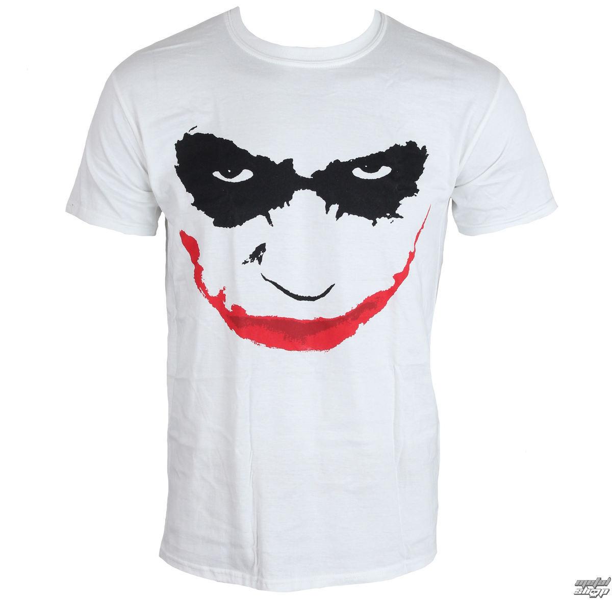 tričko pánské Batman - The Dark Knight - Joker Smile - White - LIVE NATION - PE11811TSW