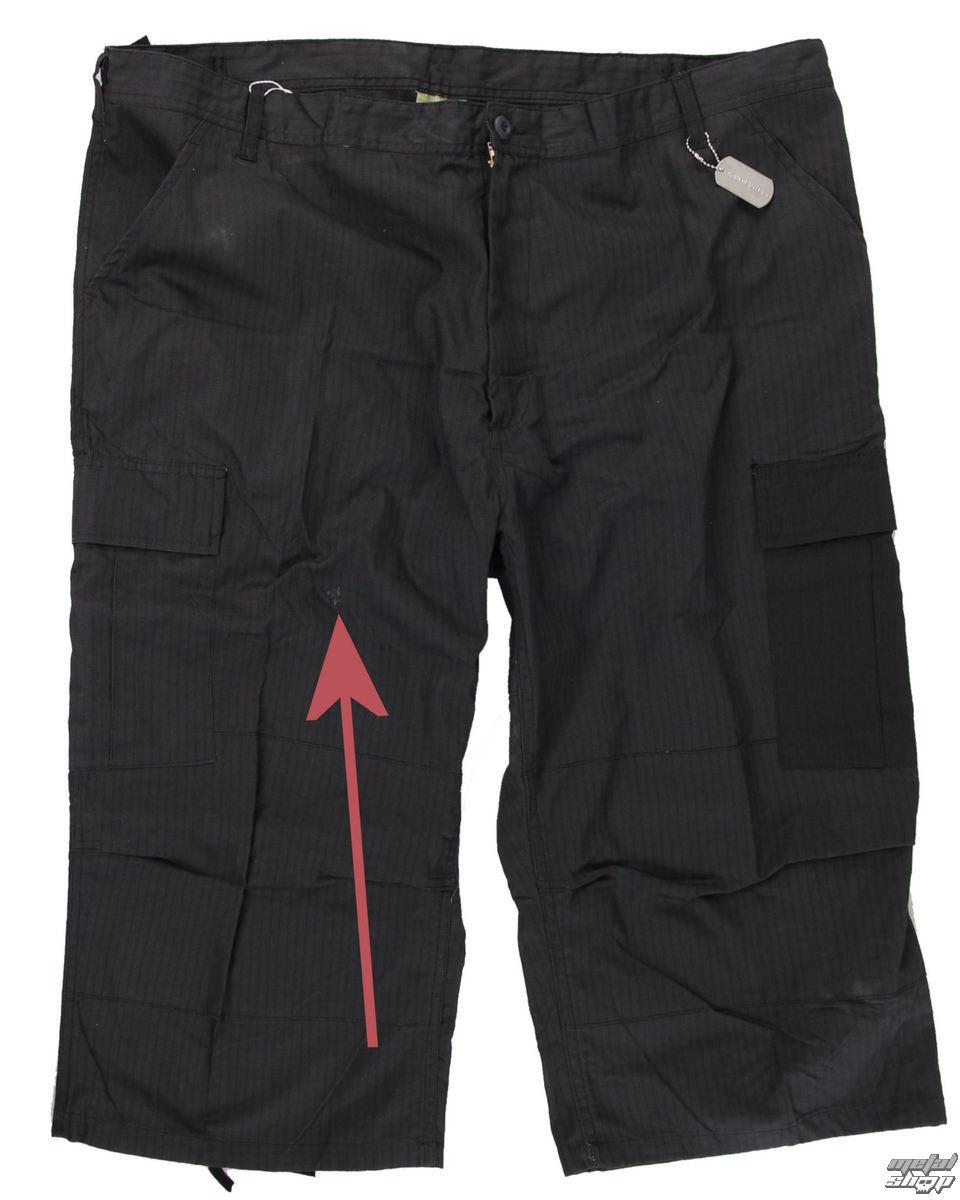 3/4 kalhoty pánské ROTHCO - Capri - BLACK - POŠKOZENÉ - N098