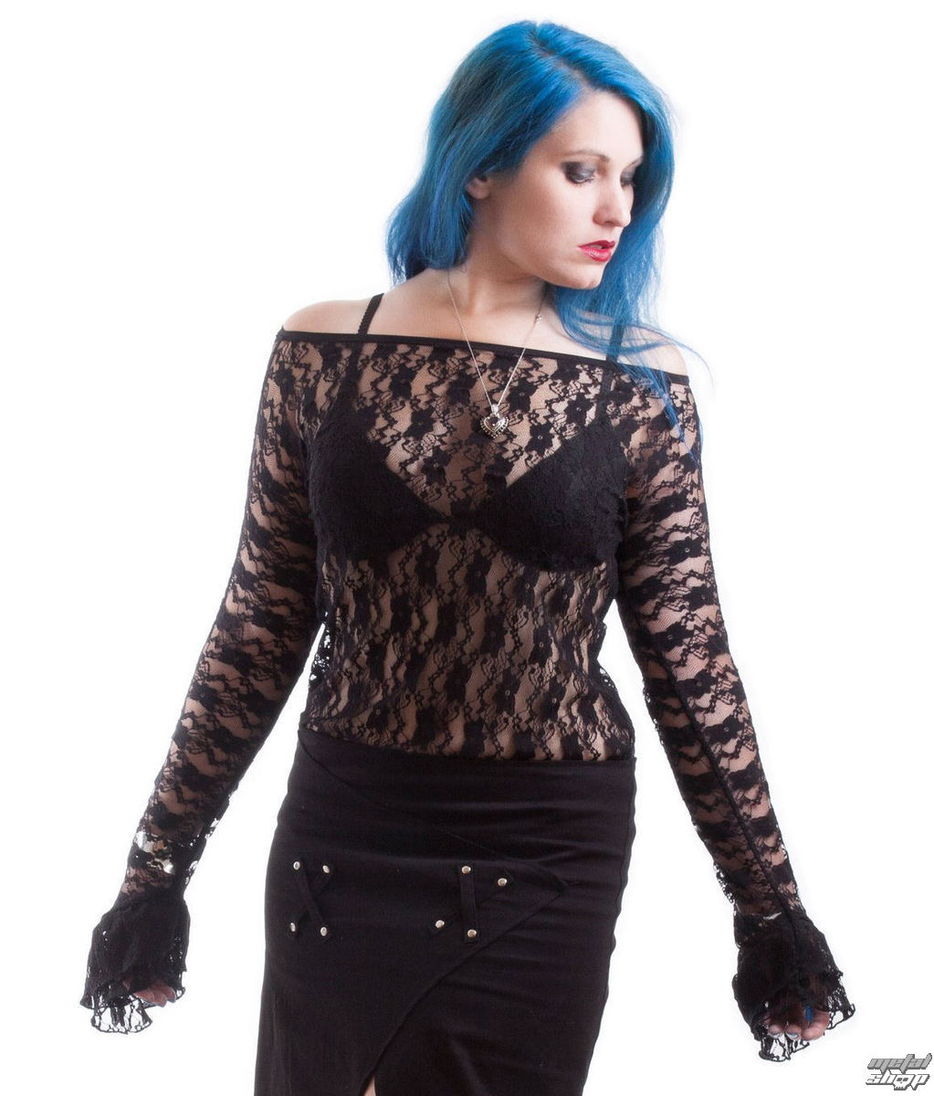 tričko dámské s dlouhým rukávem NECESSARY EVIL - Ziva - Black - N1177