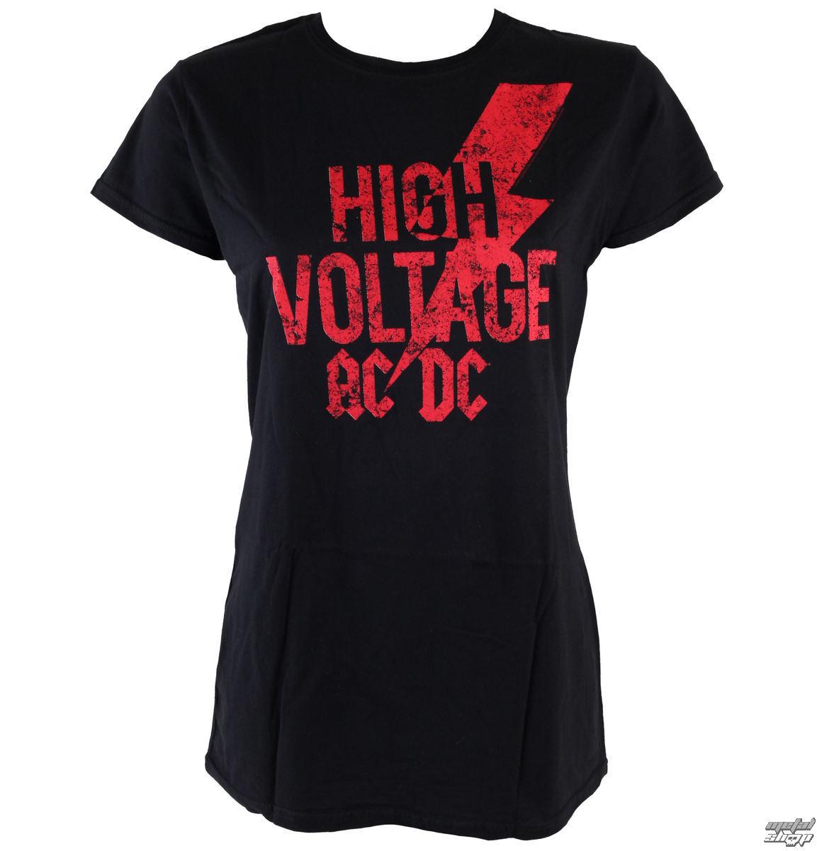tričko dámské AC/DC - Red Logo - LIVE NATION