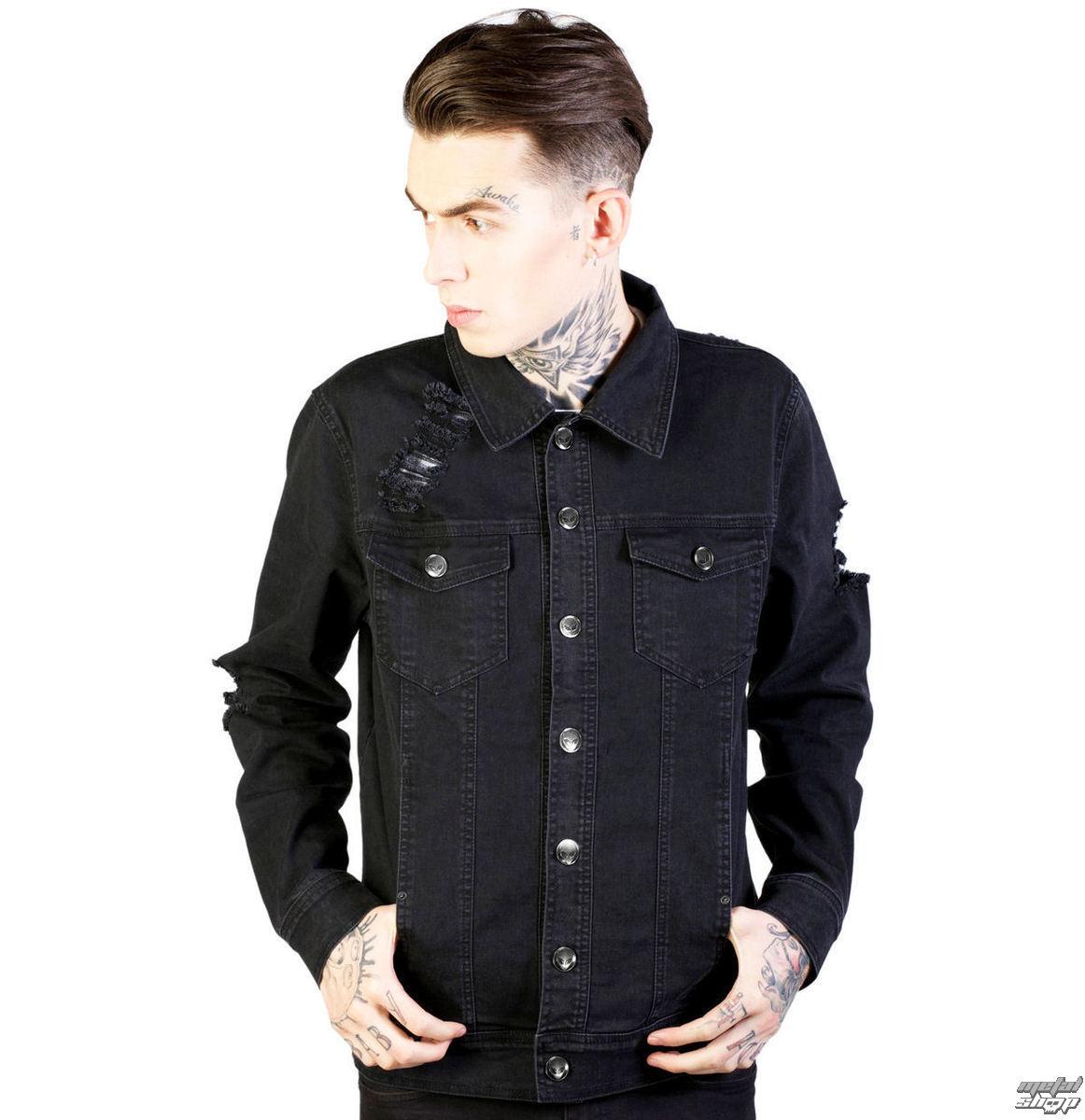 bunda pánská jarně/podzimní DISTURBIA - Noir - Black - DIS741