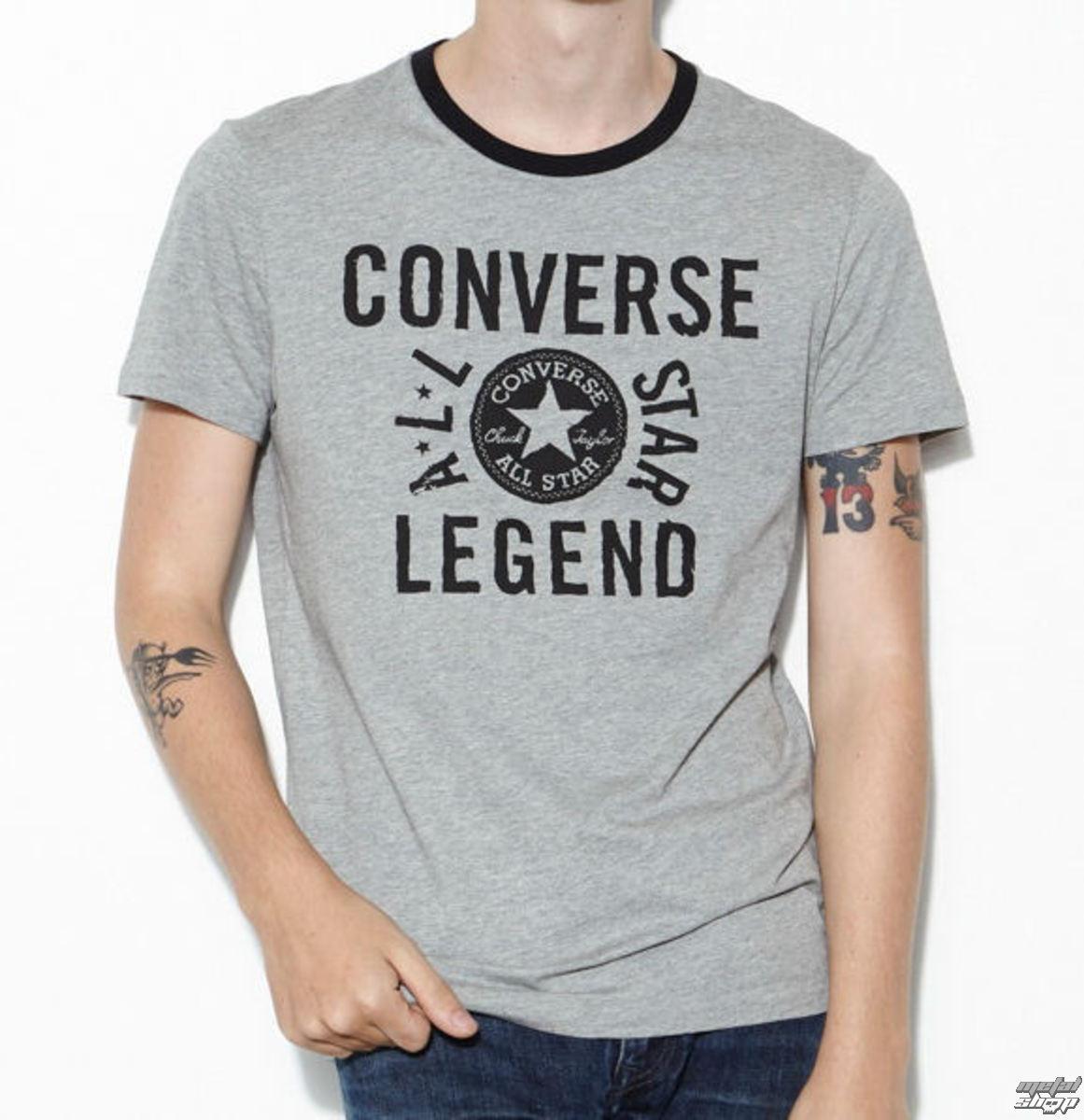 tričko pánské CONVERSE - AMT Allstar Legend Ringe - Grey - 12312C-035