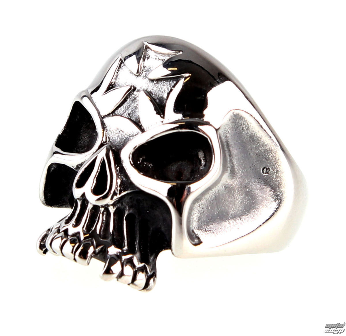 prsten ETNOX - Iron Cross Skull - SR1156 56