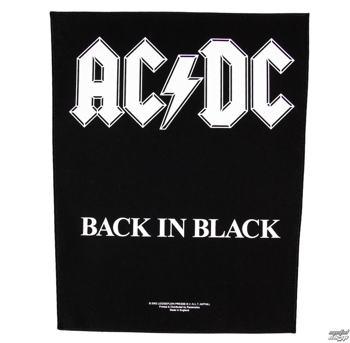 nášivka velká AC/DC - Back In Black - RAZAMATAZ - BP0613