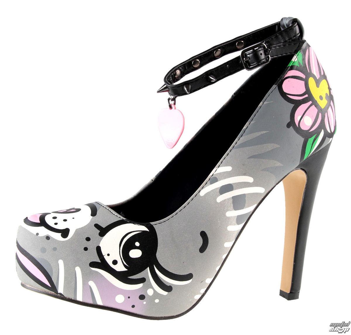 boty dámské (střevíce) IRON FIST - Pussycat Platform - Grey - IFW05090