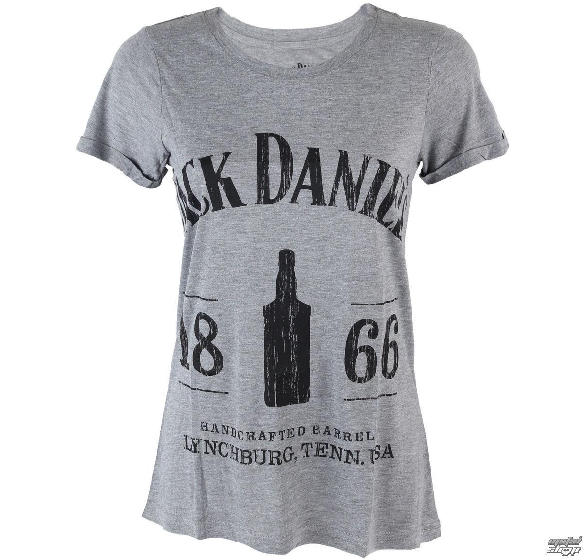 tričko dámské Jack Daniels - 1866 - Grey - TS530603JDS