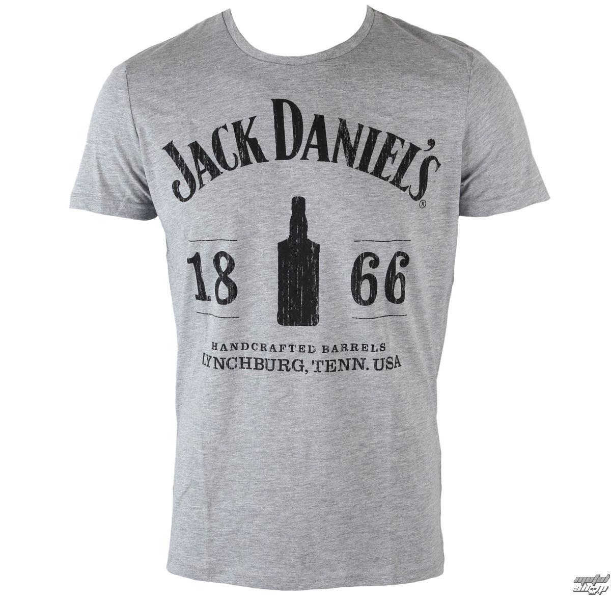 tričko pánské Jack Daniels - 1866 - Grey - TS282020JDS